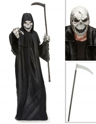 Set costume Morte con falce e maschera Halloween