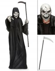 Set costume Morte con falce e maschera Halloween
