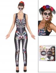 Set costume Dia de los muertos per donna Halloween