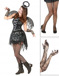 Set costume e accessori angelo gotico per halloween