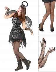 Set costume e accessori angelo gotico per halloween