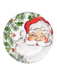 8 piatti Babbo Natale 23 cm