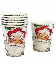 8 Bicchieri Babbo Natale di carta