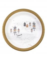 8 piatti giardino di Natale