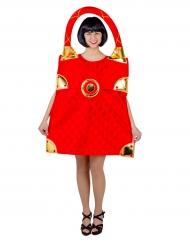 Costume da borsetta rossa per donna