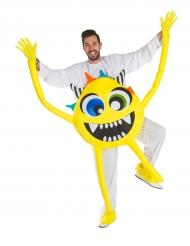 Costume da mostro giallo per adulto