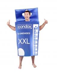 Costume da scatola di preservativi per adulto