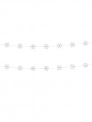 2 ghirlande fiocchi di neve 180 cm