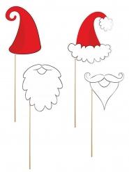Kit photobooth Babbo Natale