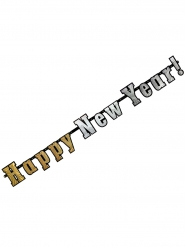 Ghirlanda olografica Happy new year Capodanno 142 cm