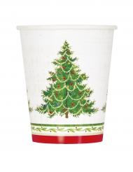 8 Bicchieri di carta Albero di Natale 27 cl