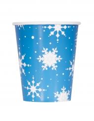 8 bicchierifiocchi di neve e renne 270 ml