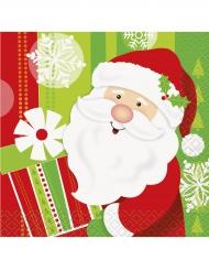 16 tovaglilini di carta Babbo Natale 25 x 25 cm