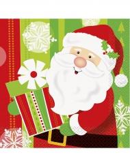 16 tovaglioli di carta Babbo Natale dimensione33 cm x 33 cm