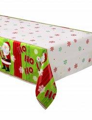 Tovaglia di plastica Babbo Natale  Ho, ho, ho dimensioni 137 cm x 213 cm