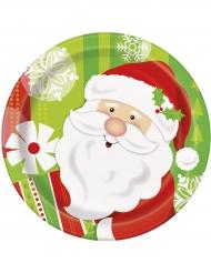 8 piatti di carta Babbo Natale