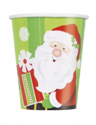 8 bicchieri Babbo Natale 270 ml
