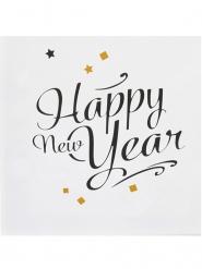 20 Tovaglioli di carta Happy new Year oro