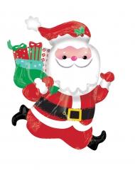 Palloncino in alluminio Babbo Natale che corre