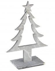 Decorazione in legnoalbero di Natale colore grigio