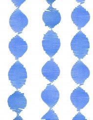 Ghirlanda a frange in carta blu 2.74 m
