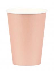 8 bicchieri oro rosa di carta