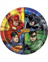 8 Piatti in cartone Justice League™ 23 cm