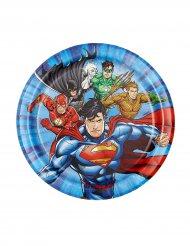 8 piatti di cartone Justice League