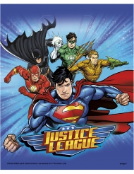 8 Buste regalo Justice League™ 18x23 cm