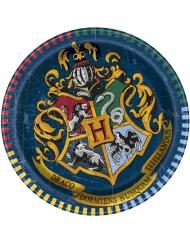 8 Piatti piccoli in cartone 18 cm Harry Potter ™