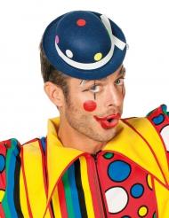 Cappello da clown blu a pois per adulto