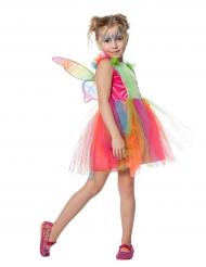 Costume da farfalla arcobaleno bambina