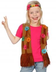 Gilet e fascia da hippie con fiori per bambina