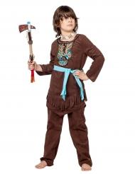 Costume da indiano con pettorale multicolore per bambino