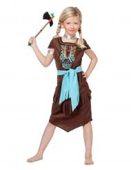 Costume da indiana con pettorale indiano colorato per bambina