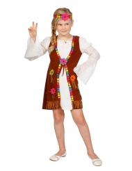 Costume da Miss Hippie bianca per bambina