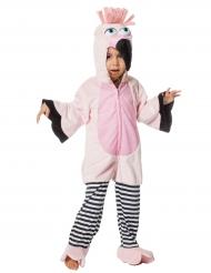 Costume da fenicottero rosa bambina