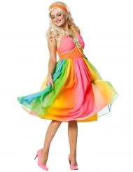 Costume anni 60 arcobaleno per donna