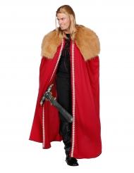 Mantello rosso da guerriero con pelo