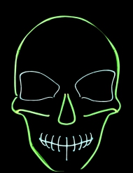 Maschera fosforescente teschio