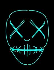 Maschera neon occhi e bocca cuciti