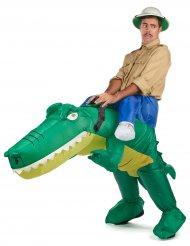Costume da coccodrillo gonfiabile per adulto