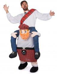 Costume Carry Me da uomo a dorso di scozzese per adulto