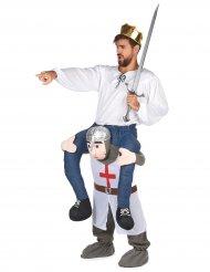 Costume uomo sulle spalle di un cavaliere per adulto
