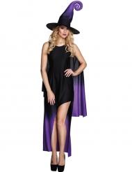 Costume da strega nero e viola per donna - Halloween
