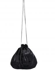 Borsetta in velluto nero 27 cm