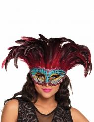 Maschera fenice con piume per adulto