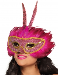 Maschera fenice rosa adulto