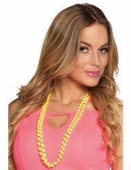 2 Collane di perle gialleper adulto