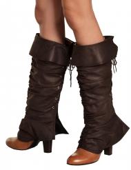 Copriscarpe medievali marroni per donna